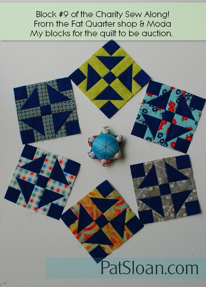 Pat Sloan Patchwork Charity block 9