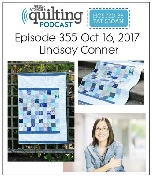 American Patchwork Quilting Pocast episode 355 Lindsay Conner
