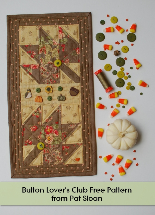 Fall Leaves With The Button Club Amp My Free Pattern Pat Sloan S Blog