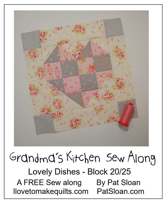 Pat Sloan Block 20 directions Grandmas Kitchen pic 3