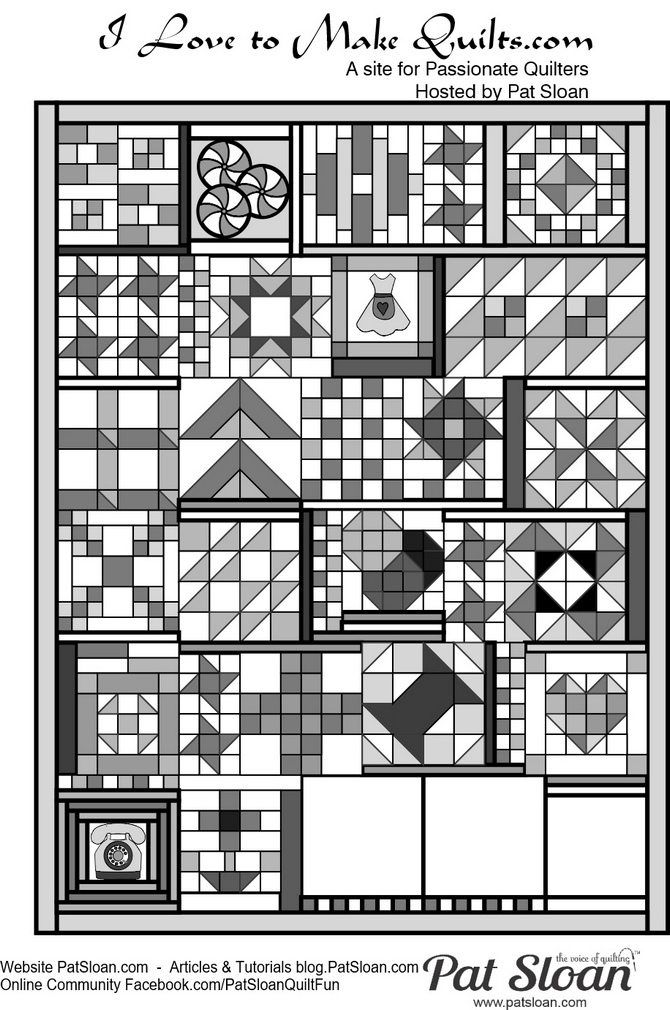 Pat Sloan Block 22 in layout Grandmas Kitchen