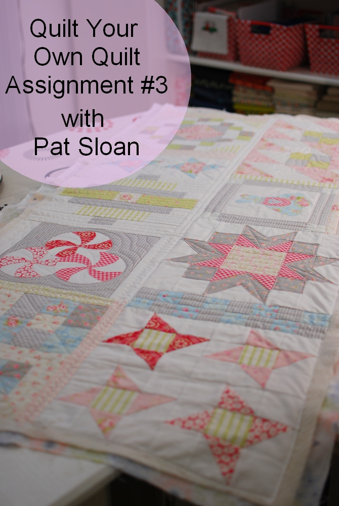 Pat Sloan Quilt Your Own Quilt assignment 3 button