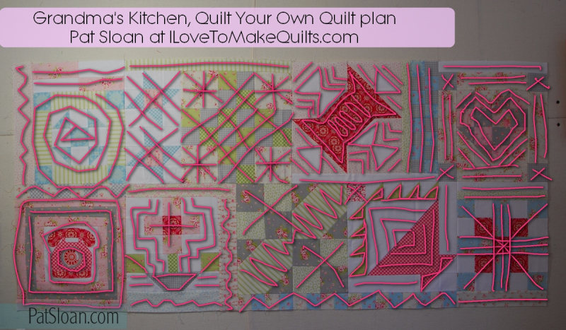 Pat sloan Quilt Your own quilt row 5 6 gmk plan with lines