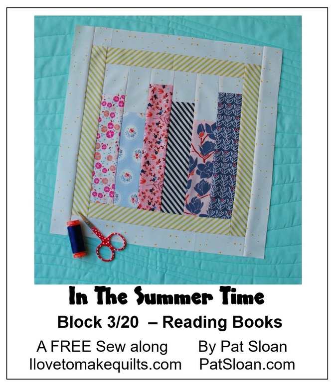 Pat Sloan Block 3 In the Summer Time banner