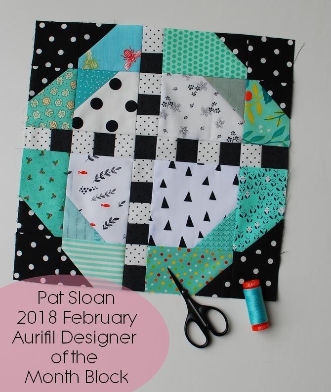 Pat Sloan 2018 Aurifil Feb block banner