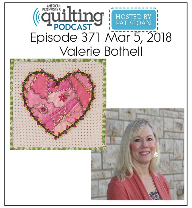 American Patchwork Quilting Pocast episode 371 Valerie Bothell