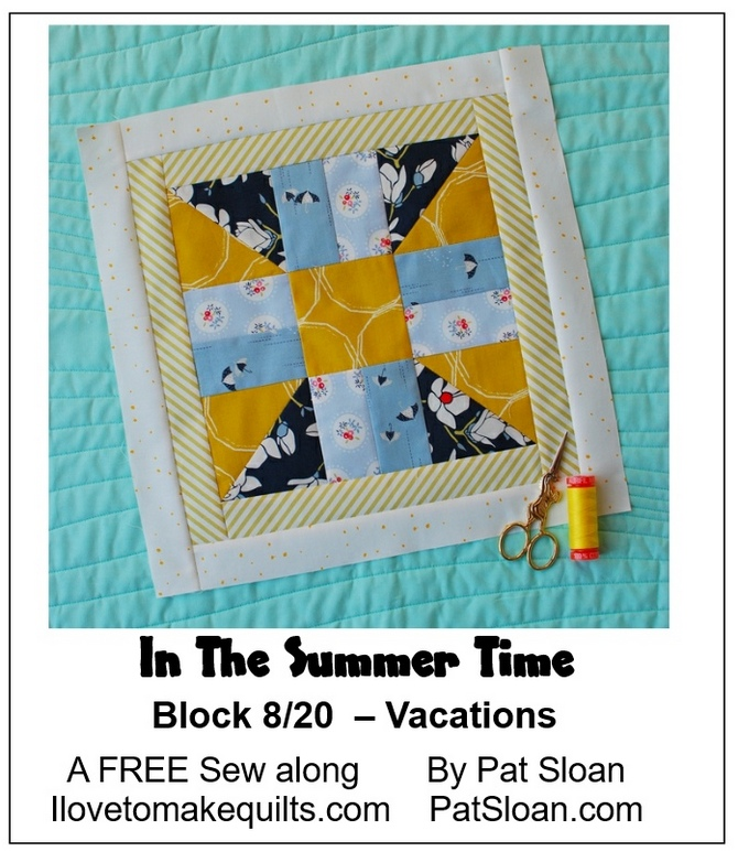 Pat Sloan Block 8 In the Summer Time banner