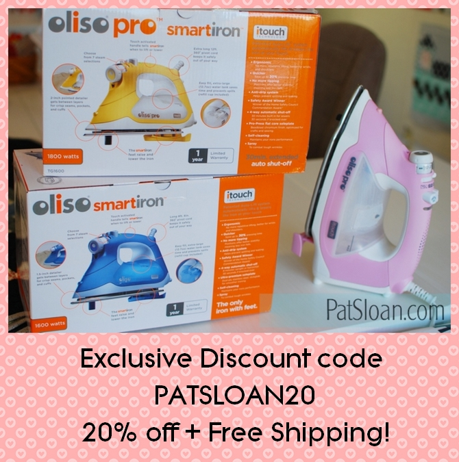 Pat Sloan Oliso iron discount button