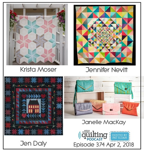2 American Patchwork Quilting Pocast episode 374 Apr 2 2018
