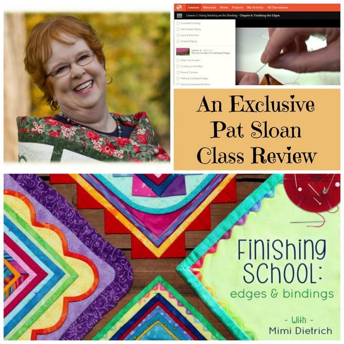 Pat sloan binding class review button