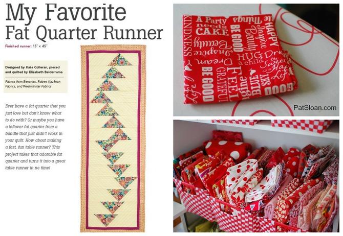 Pat sloan favorite runner collage