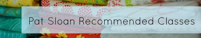 Pat sloan recommended classes banner