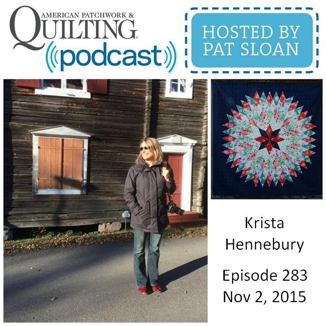American Patchwork Quilting Pocast episode 293 Krista Hennebury