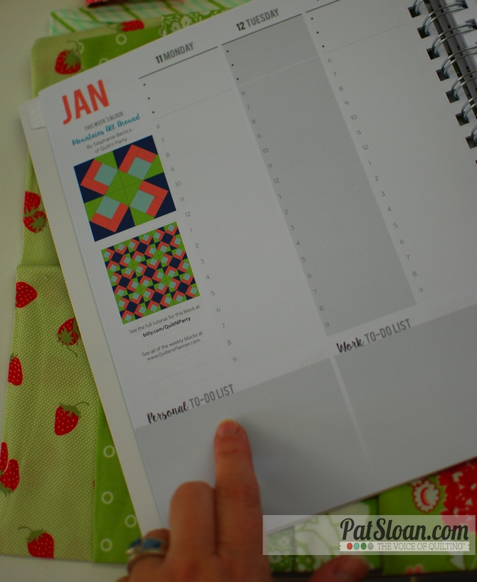 Pat sloan quilters planner 2016 sheets 3