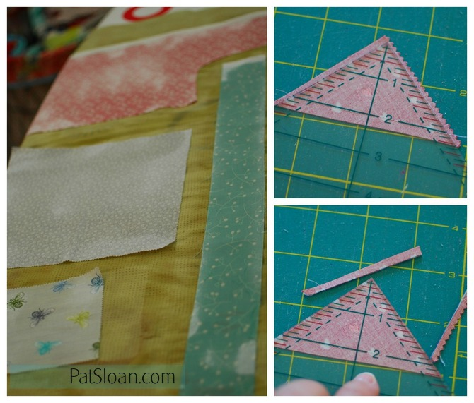 Pat sloan triangle trimming