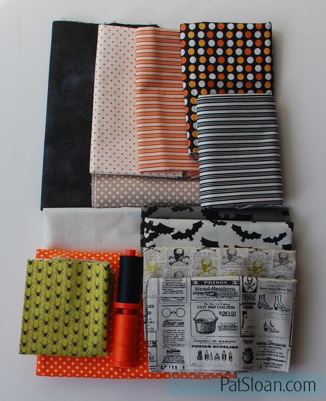 Pat sloan Halloween fabrics 1