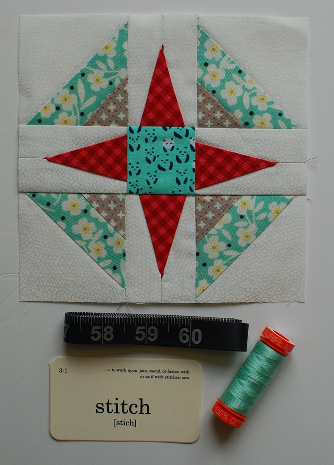 Pat sloan Splendid Sampler block 23 with aurifil