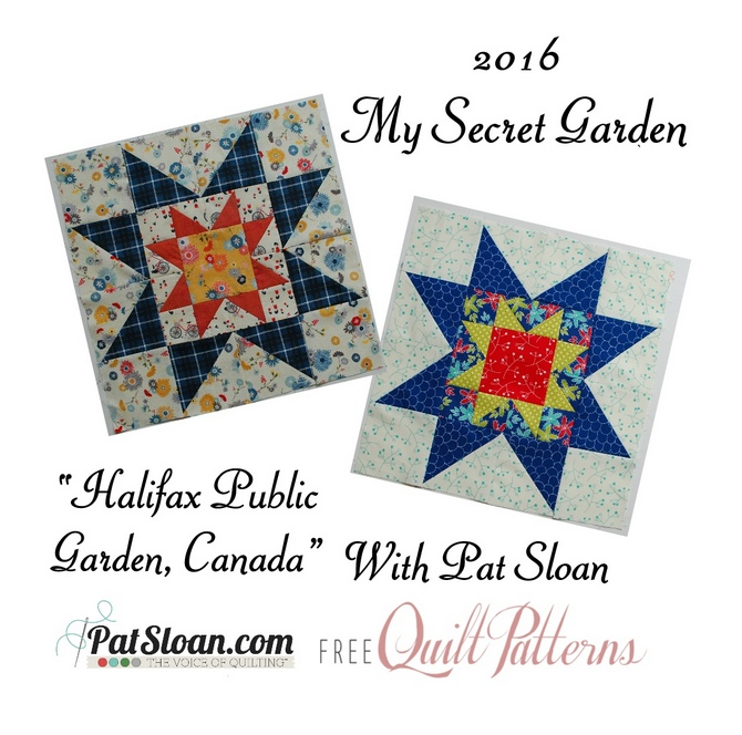 2016 6 June Pat Sloan Secret Garden Mystery BUTTON