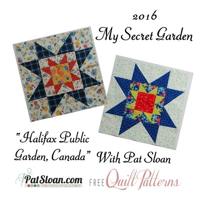 2016 6 June Pat Sloan Secret Garden Mystery BUTTON