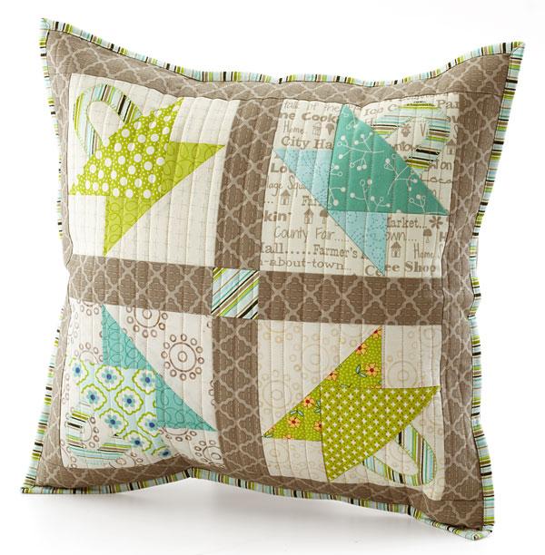 Pat sloan antique baskets pillow
