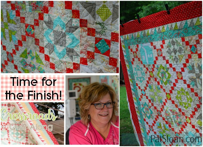 Pat Sloan crossroads charity quilt along for the finish