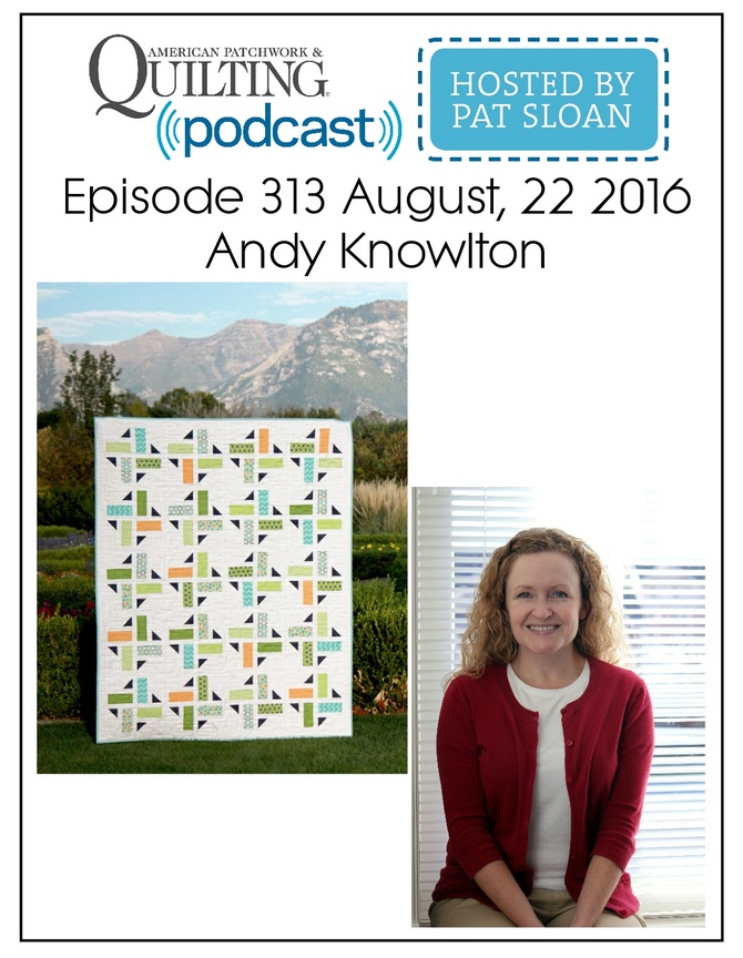 American Patchwork Quilting Pocast episode 313 Andy Knowlton