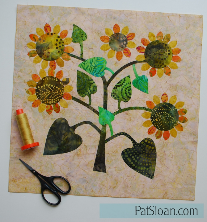 Pat Sloan Summerfield Sunflower block