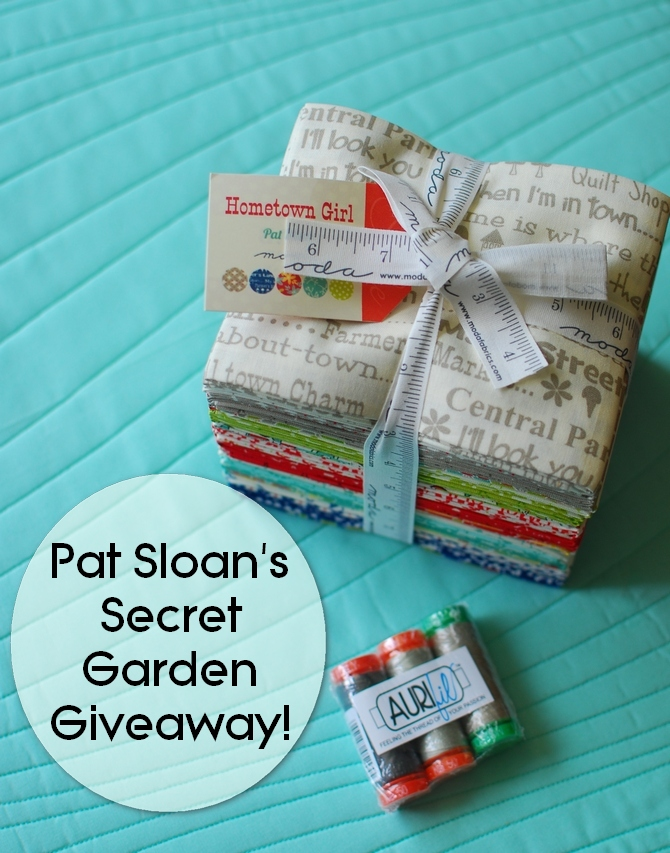 Pat Sloan final secret garden quilt giveaway