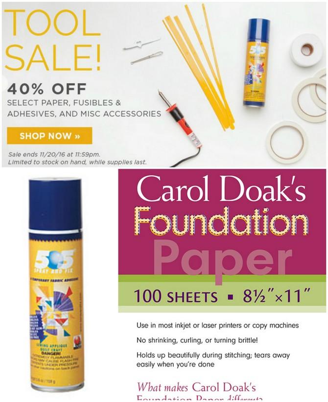 Notions sale