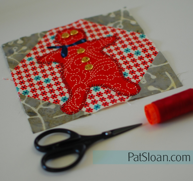 Pat Sloan Grans gingerbread mini quilt2