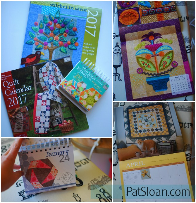 Pat Sloan quilt planner and bigger calendars