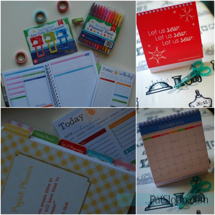 Pat Sloan quilt planner and mini calendar