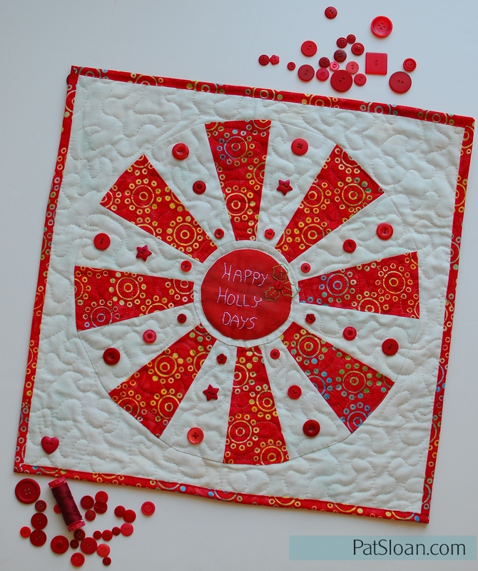 Pat Sloan Happy Holly Days with buttons