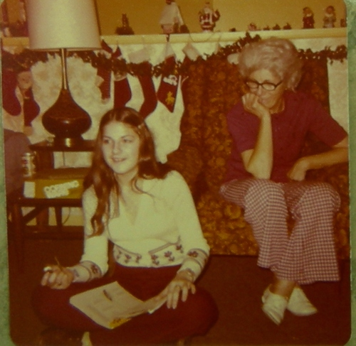 Pat and granny college age