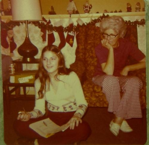 Pat and granny college age
