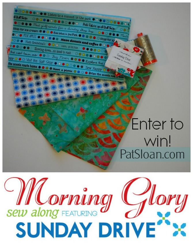Pat Sloan Morning Glory giveaway