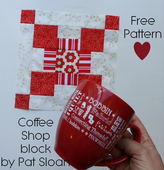 Pat sloan block 10 solstice challenge coffee shop