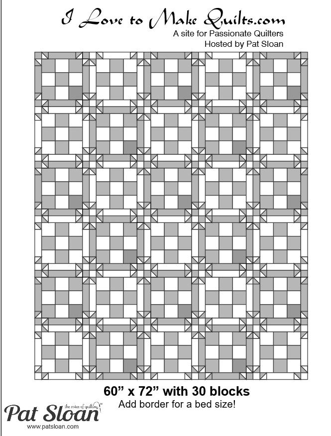 Pat Sloan Block 13 full quilt Solstice Challenge