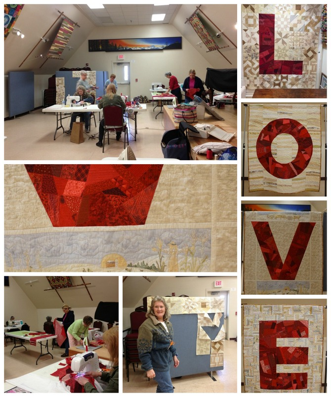 Pat sloan love quilt collage