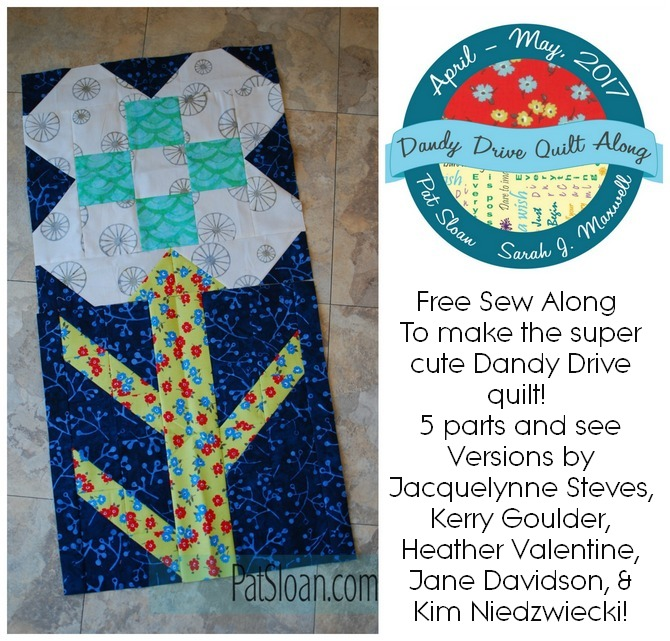 Free Sew along Dandy Drive banner