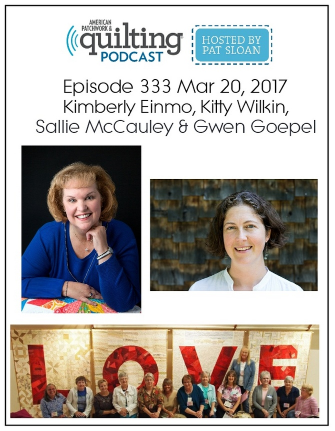 2 American Patchwork Quilting Pocast episode 333 Mar 20 2017