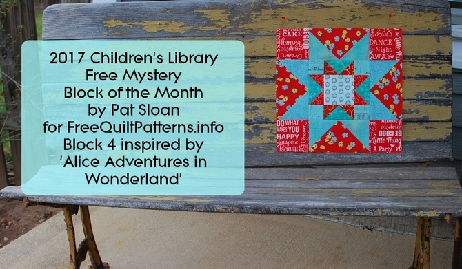 Pat Sloan Children's Library Block 4 alice FB banner2