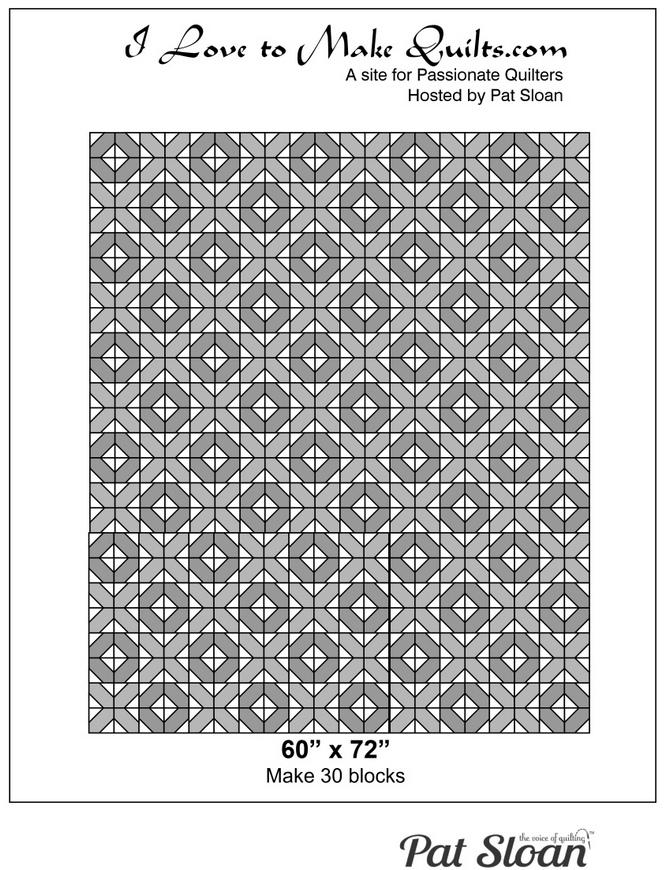Pat Sloan Block 20 full quilt Solstice Challenge