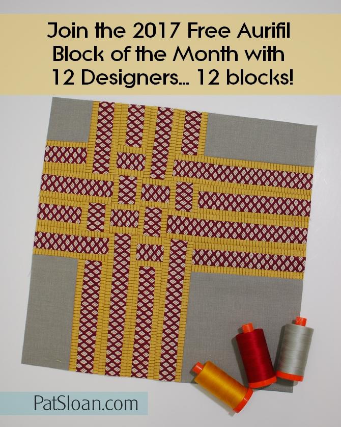 Pat Sloan 2017 Aurifil DOM May block banner