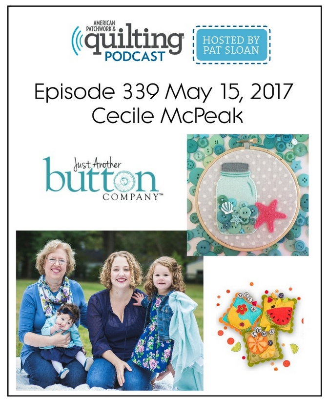 American Patchwork Quilting Pocast episode 339 Cecile McPeak
