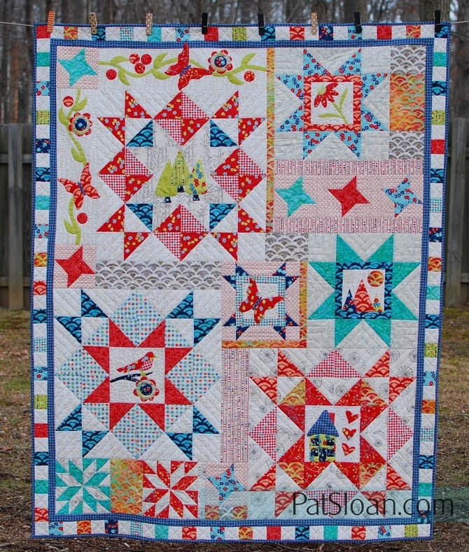 Pat sloan take the round about final quilt full