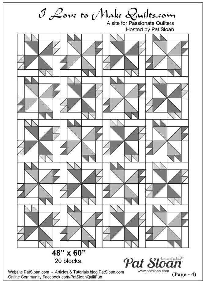 Pat Sloan Block 25 directions full quilt Solstice Challenge