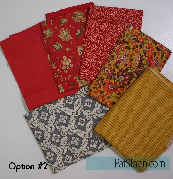 Pat Sloan block 6 option 2 fabric