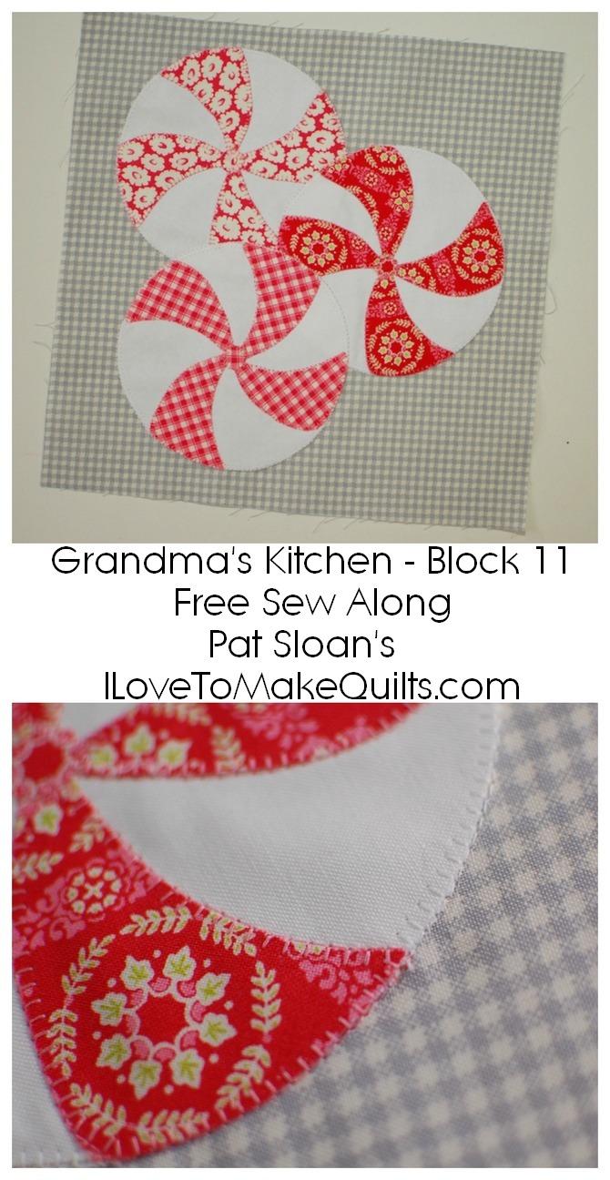 Pat Sloan Block 11 directions Grandmas Kitchen banner