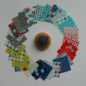 Pat sloan sunday drive cotton swatch set circle
